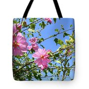 Pink Musk Mallow Tote Bag by Pamela Patch