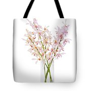 Pink Orchid In Vase Tote Bag