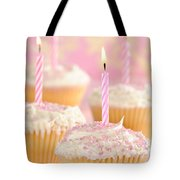 Pink Party Cupcakes Tote Bag by Amanda Elwell