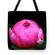 Pink Peony Bud Tote Bag