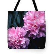 Pink Peony Pair Tote Bag