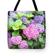 Pink Purple Hydrangeas Tote Bag