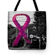 Pink Ribbon For Breast Cancer Awareness Tote Bag