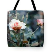 Pink Rose Bush Tote Bag