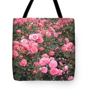 Pink Roses Canvas Tote Bag
