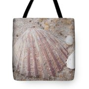Pink Scallop Shell Tote Bag