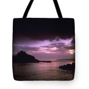 Pink Sky Over St. Michaels Mount Tote Bag