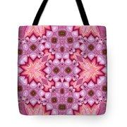 Pink Splash Mandala Abstract Tote Bag
