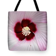 Pink Swirl Hibiscus Tote Bag