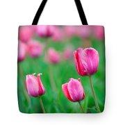 Pink Tulip Bed Tote Bag