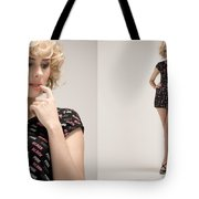 Pink White Black Tote Bag