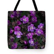 Pinkish-purple Wildflowers Geranium Tote Bag