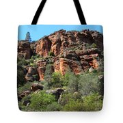 Pinnacles Rock Face Photograph Tote Bag