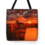 Pipestem Sunset Tote Bag