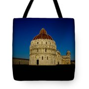 Pisa Tower And Baptistery Cathedral Tote Bag