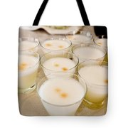 Pisco Sours Are Served By Peru Rail Tote Bag