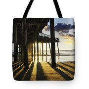 Pismo Pier Sunset II Tote Bag