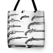 Pistol And Revolvers Tote Bag
