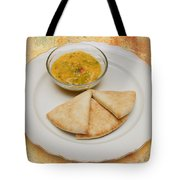 Pita With Brocoli Dip Tote Bag by Andee Design