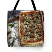 Pizza With Herbs Tote Bag