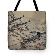 Pk Machine Guns And Spent Cartridges Tote Bag