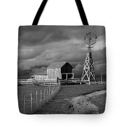 Plains Frontier Farm And Windmill At 1880's Town In South Dakota Tote Bag