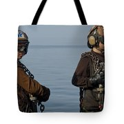 Plane Captains Stand By During Aircraft Tote Bag