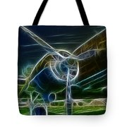 Plane Engine And Prop Tote Bag