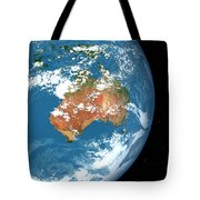 Planet Earth Showing Clouds Tote Bag