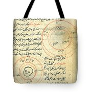 Planetary Diagram, Islamic Astronomy Tote Bag by Science Source