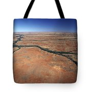 Plants Grow Along Desert River Drainage Tote Bag