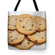 Plate Of Chocolate Chip Cookies Tote Bag