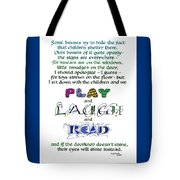 Play Laugh Read Tote Bag