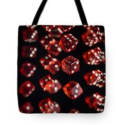 Playing Dice Being Rolled Tote Bag