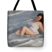 Playing In The Surf Tote Bag