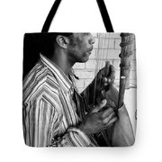 Playing The Koro - Black And White Tote Bag