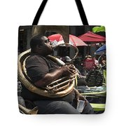 Playing The Tuba _ New Orleans Tote Bag
