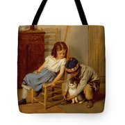 Playing With Kitty  Tote Bag