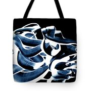 Playing With Paintcolours On A Black Background Tote Bag
