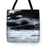 playing with waves 2 - A beautiful image of a wave rolling in noth coast of Menorca Cala Mesquida Tote Bag