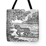 Ploughing, 19th Century Tote Bag by Granger