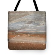 Ploughing In The Atlas Mountains Tote Bag