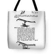 Plow Advertisement, C1890 Tote Bag