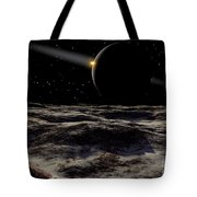 Pluto Seen From The Surface Tote Bag