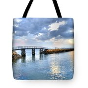 Plymouth Sunset Tote Bag
