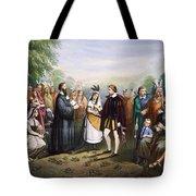 Pocahontas & John Rolfe Tote Bag