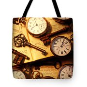 Pocket Watches And Old Keys Tote Bag