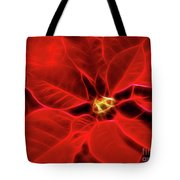 Poinsettia Red Christmas Flower Abstract Artwork Tote Bag