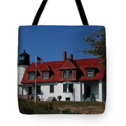 Point Betsie Light Station Tote Bag