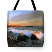 Point Judith Lighthouse Seascape Tote Bag